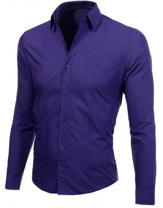 """Лилава мъжка риза """" Лукс """""""