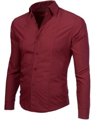 """Мъжка риза в бордо """"Лукс"""""""