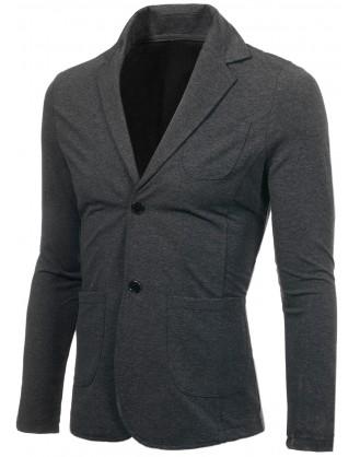 Мъжко тъмно сиво памучно сако