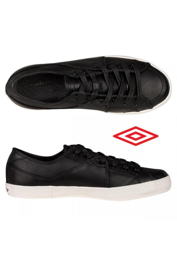 Umbro Milton - мъжки кожени обувки - черно